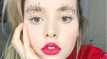 'Christmas tree eyebrows' is the latest holiday beauty trend and it's simply wild