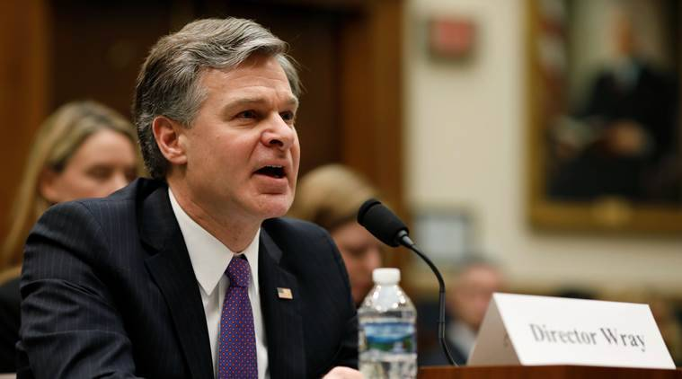 FBI director,Christopher Wray, donald trump, trump fbi tweet, world news, us news, indian express