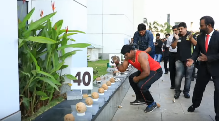 VIDEO: This Kerala man entered Guinness World Records for breaking 122 coconuts in a minute