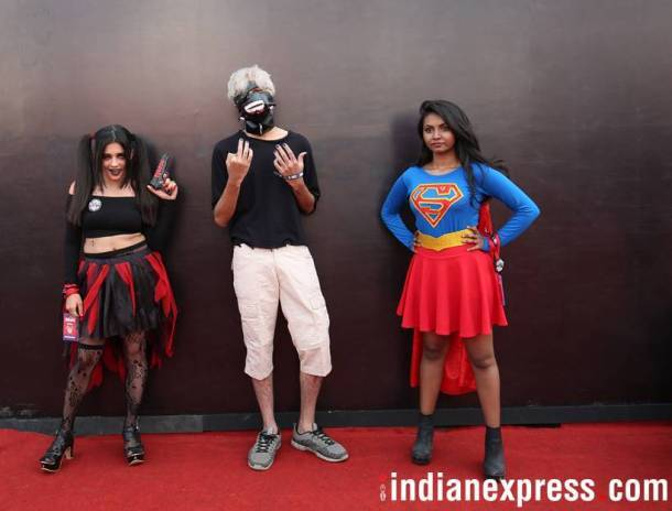 comiccon, comic con, comic con day 1, picture of comic con, comic con delhi, when is comic con, Indian express, Indian express news