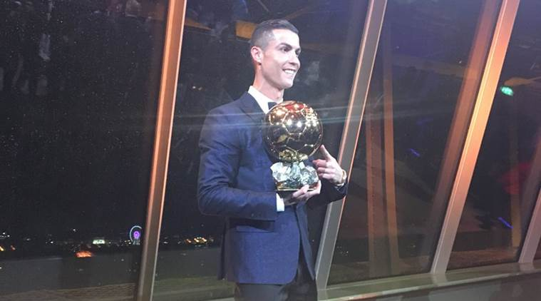 Ronaldo Beats Messi, Neymar To Win Fifth Ballon d'Or