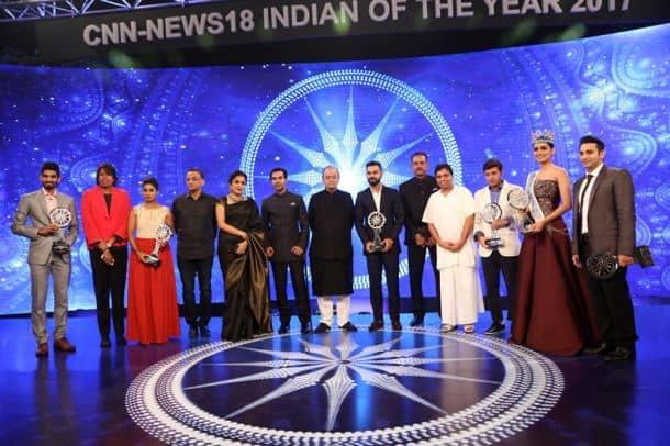 Virat Kohli with award winners