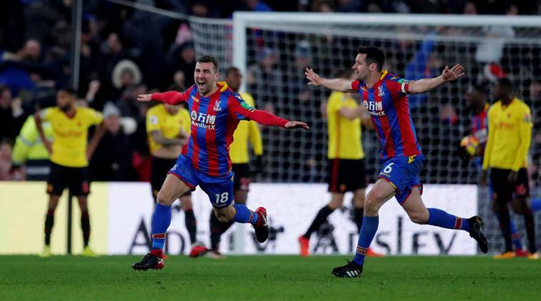 Crystal Palace has gone above the relegation zone for the first time.