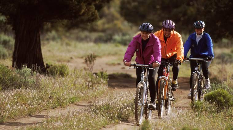 cycling, advanatages of cycling, benefits of cycling, cycling and benefits, cycling and stress, indian express, indian express news
