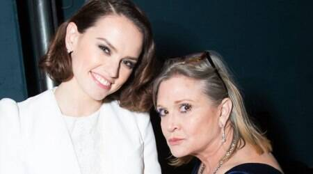 Star Wars The Last Jedi female actors pay tribute to Carrie Fisher