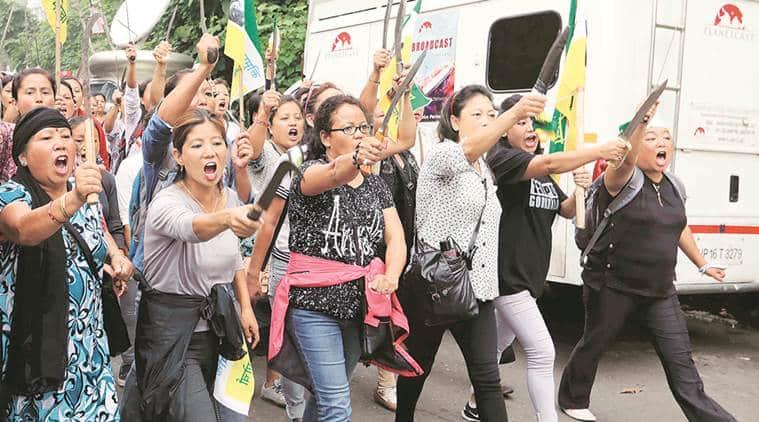 Darjeeling Agitation, Gorkhaland, Bimal Gurung, Gorkha Janmukti Morcha, GJM agitation, Indian Express, Kolkata News