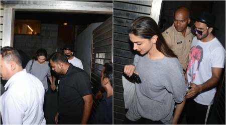 Ranveer Singh and Deepika Padukone leave Zoya Akhtar's house hand in hand, see photos