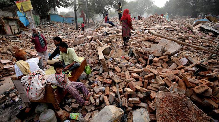 Delhi slum demolition, National Capital Territory of Delhi Laws (Special Provisions) Second (Amendment) Bill, Delhi Demolition, Delhi News, Indian Express