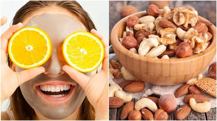 detox, skincare, skincare tips, skin detox, dark circles, puff eyes, skin glow, younger skin, hydration, blemishes, skin problems, winter skin problems, winter skincare problems, winter skincare treatment, skincare foods, skincare tips during party season, pumpkin, tomato, potato, turmeric, coocnut, berries, cherries, blueberries, strawberries, walnuts, eggs, almonds, sugar, alcohol, indian express, indian express news