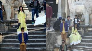 Janhvi Kapoor and Ishaan Khatter shoot for their upcoming film Dhadak in Jaipur