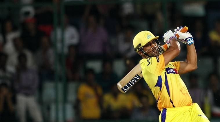Chennai Super Kings player MS Dhoni in action