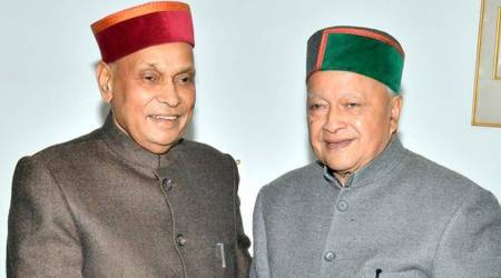 Assembly Election Results 2017, Himachal Pradesh elections, Virbhadra Singh, Prem Kumar Dhumal, Himachal Results, Congress, BJP, indian express