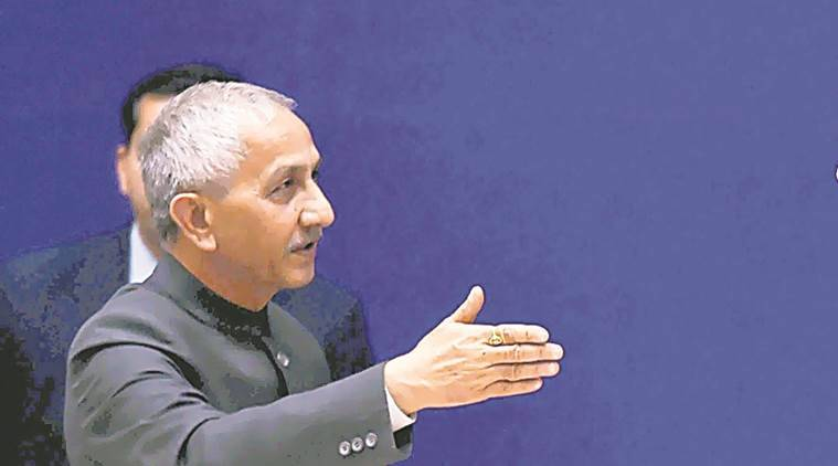 Dineshwar Sharma reaches Baramulla