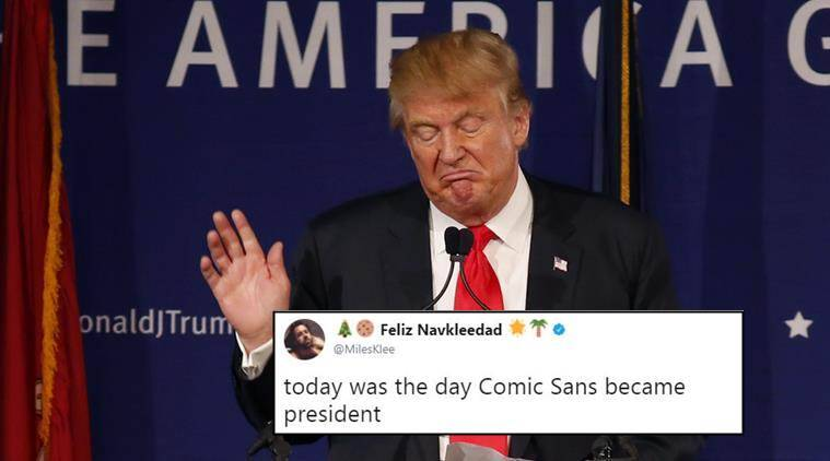Donald Trump, donald trump lawyer, donald trump lawyer comic sans, Michael Flynn guilty, trump;s lawyer on Michael Flynn statement, twitter reactions, indian express, indian express news