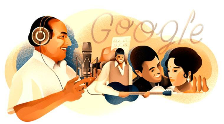 Google Doodle commemorates legendary singer Mohammed Rafi's 93rd birthday