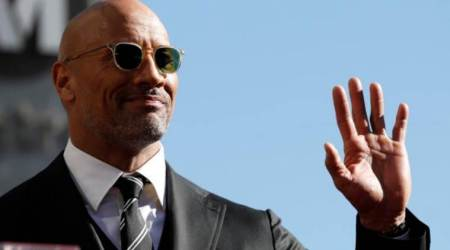 Wrestler turned actor Dwayne Johnson receives star on Walk of Fame