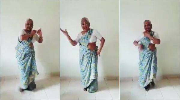 old woman dancing, elderly woman dancing, dancing granny, grandma dancing, viral dancing old woman, ja tose nahi boloon song, trending news, good news, indian express