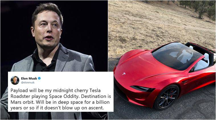 Elon Musk Plans To Launch A Car Tesla Roadster To Mars