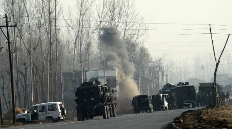 Terrorists attack Army convoy in J&K's Qazigund, gun battle now  underway