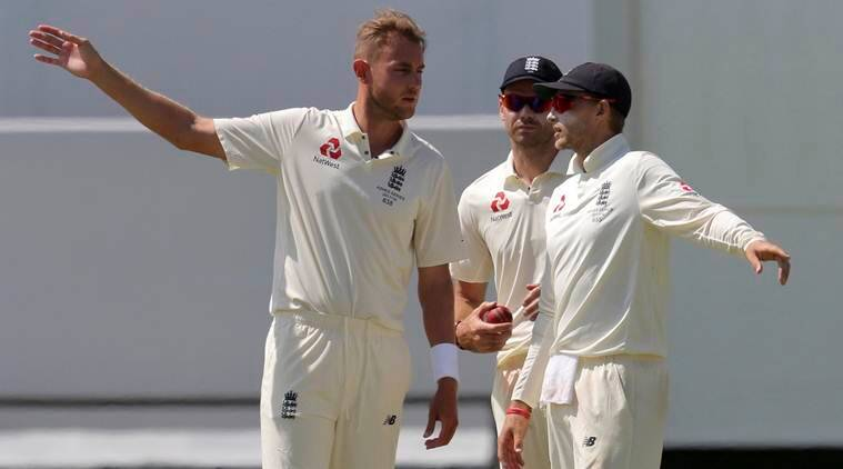 England captain Joe Root with Stuart Broad