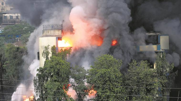 Massive fire at chemical factory