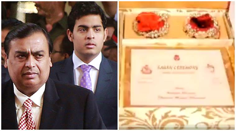 akash ambani wedding, mukesh ambani, wedding card 1.5 lakh, gold wedding card akash ambani, akash ambani fake wedding card, ambani wedding fake news, indian express, indian express news