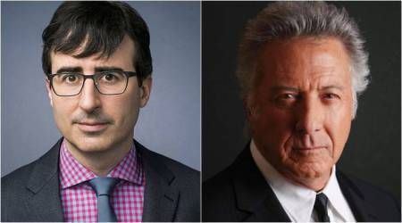 John Oliver grills Dustin Hoffman over sexual harassment claims