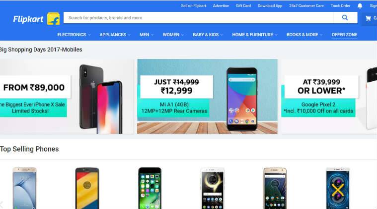 Flipkart deals discounts on mobiles Apple iPhone X Google Pixel 2 Xiaomi Mi A1