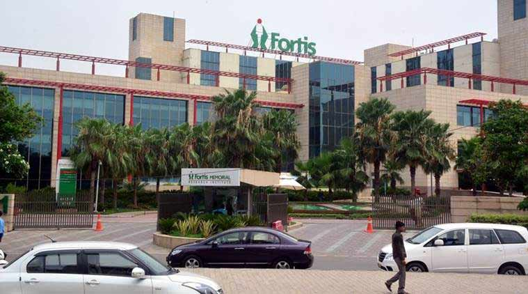Fortis Hospital, Fortis Gurgaon License, Gurgaon Fortis Pharmacy, Dengue patient dies in Fortis, Fortis Gurgaon inspection, Indian Express