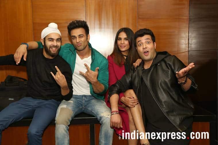 Fukrey Returns stars Richa Chadha, Pulkit Samrat, Varun Sharma, Ali Fazal and Manjot Singh.
