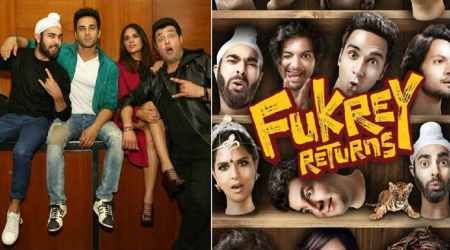 Fukrey Returns stars Richa Chadha, Pulkit Samrat, Varun Sharma, Ali Fazal and Manjot Singh.