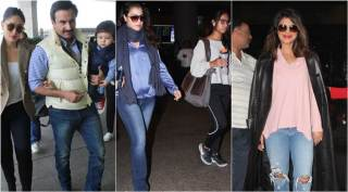Priyanka Chopra receives a warm welcome, Kareena, Kajol spotted with family at the airport