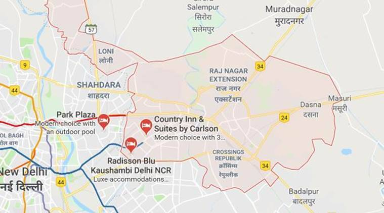 Ghaziabad Minor Strangled With Shoelaces Say Police The Indian - Ghaziabad map