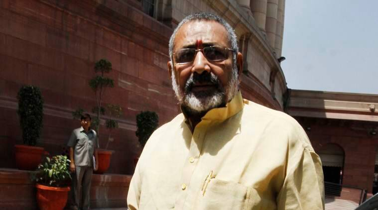 Giriraj Singh booked over land grab in Patna