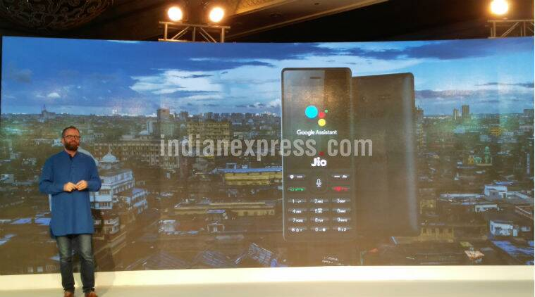 JioPhone, JioPhone Google Assistant, Google Assistant JioPhone. Google for India event, Reliance JioPhone Google Assistant, Google