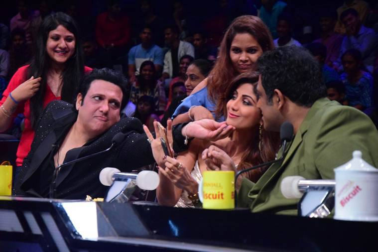Govinda raveena tandon and shilpa shetty dial up nostalgia on govinda shilpa shetty super dancer 2 thecheapjerseys Images