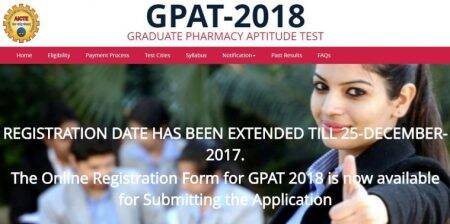 GPAT 2018 registration date extended, apply at aicte-gpat.in