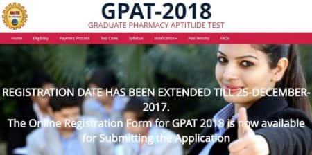 GPAT 2018 registration date extended, apply ataicte-gpat.in