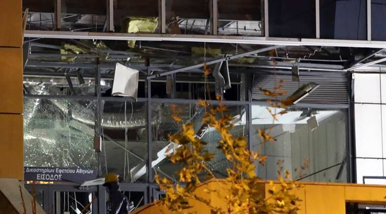 Greece attack, explosion, Athens court attack, Greece court attack, greece news, indian express