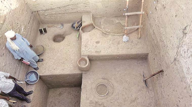 pre-Harappan archaeological excavation, Kunal, Haryana, harappa, indus valley civillisation, indian express, Archaeological Survey of India