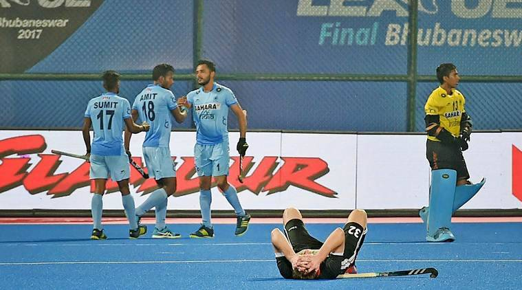 hockey india beat germany in hwl 2017