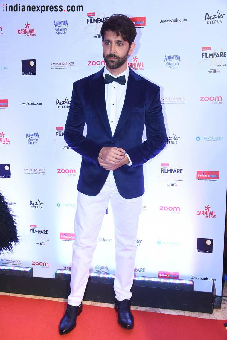 hrithik roshan at filmfare glamour and style awards