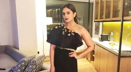 Huma Qureshi adds an interesting twist to her monotone outfit with this accessory