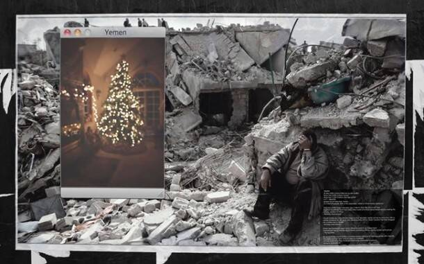 middle east, Christmas in Yemen, Christmas in Yemen project, billboards on yemen, Christmas project, Indian express, Indian express news