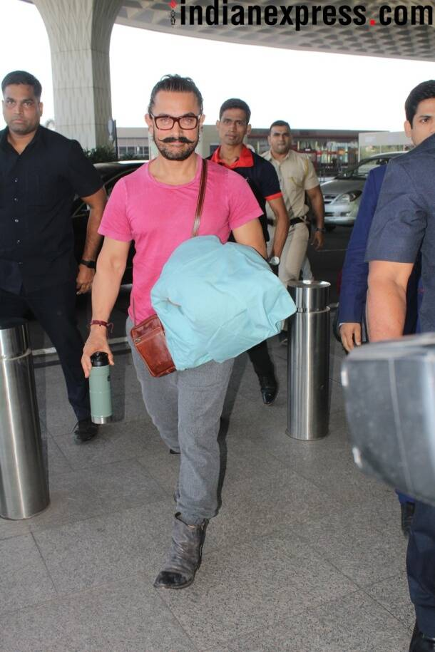 bollywood spotted photos include Aamir khan, malaika arora, bipasha basi and karan singh grover and arpita khan