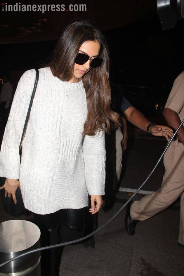 deepika padukone spotted at the airport amid padmavati controversy