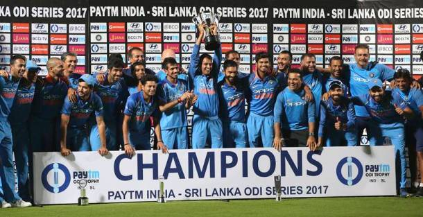 India register another ODI series win, sixth of 2017