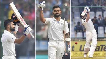 India vs Sri Lanka, Virat Kohli, Kohli double hundred, Kohli runs, Sri Lanka tour of India 2017, sports gallery, cricket, Indian Express