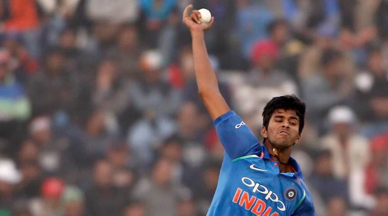 Washington Sundar makes his debut for India