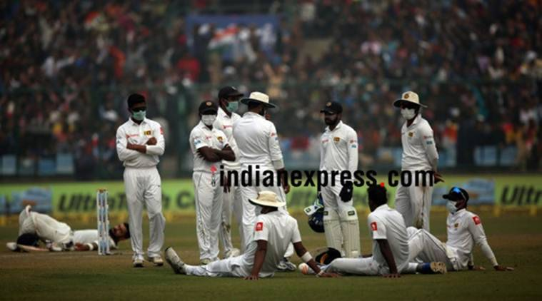 Delhi smog causes Sri Lanka players to vomit on field